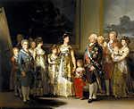 Francisco José de Goya: IV. Károly spanyol király és családja (id: 3988) falikép keretezve