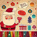 Karácsonyi illusztráció vicces Mikulás (id: 4688)