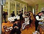Edgar Degas: Gyapot tőzsde, 1873 (id: 888) vászonkép óra