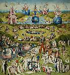 Hieronymus Bosch: A Gyönyörök kertje triptichon, középső panel (id: 10089)