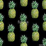 Zökkenőmentes akvarell gyümölcs illusztrációja ananász. Minta sz (id: 12589) vászonkép óra
