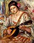 Mandolinon játszó lány (id: 1389)