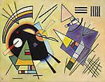 Vaszilij Kandinszkij: Absztrakt háromszögek és vonalak (id: 14289) vászonkép óra