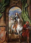 Anthony van Dyck : I. Károly lovas portréja (id: 19489) vászonkép