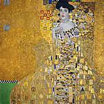 Gustav Klimt: Adele Bloch portréja - színverzió 5 (id: 19789) vászonkép