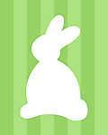 DIY - Húsvéti nyuszi, zöld csíkos háttérrel (id: 4089) falikép keretezve