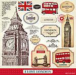 vektoros készlet londoni szimbólumok (id: 4689)