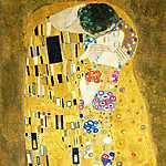 Gustav Klimt: A csók (részlet), 1908 (id: 9889) vászonkép óra