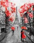 Olajfestmény, Párizs. európai városi táj. Franciaország, Háttérk (id: 10290) vászonkép óra