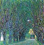 Gustav Klimt: Út a parkban (id: 1090) tapéta