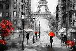 vászonfestmény, utcai kilátás Párizsban. Alkotás. eiffel a (id: 11890)