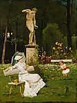 Munkácsy Mihály: Parkban (id: 12090) falikép keretezve