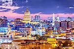 Havana, Cuba downtown skyline. (id: 13290) poszter
