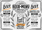 Beer menu restaurant, drink template. (id: 13690) poszter