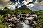 Skót felföld tájkép (id: 17390) falikép keretezve