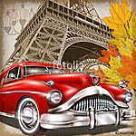 Paris vintage poster. (id: 19190) tapéta