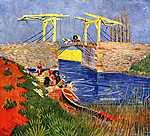 Vincent Van Gogh: Az arles-i Langlois-híd mosónőkkel (id: 390) tapéta