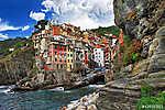 festői Olaszország sorozat - Riomagiorre, Chinque terre (id: 4290) falikép keretezve