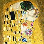 Gustav Klimt: A csók (részlet), 1908 (id: 9890) vászonkép óra