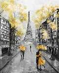 Olajfestmény, Párizs. európai városi táj. Franciaország, Háttérk (id: 10291) vászonkép óra