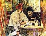 Henri de Toulouse Lautrec: Az étteremben (id: 1091) vászonkép