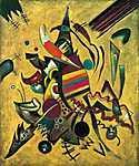 Vaszilij Kandinszkij: Pontok, absztrakt festmény (id: 14291) többrészes vászonkép