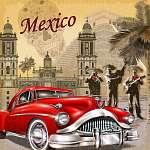 Mexico retro poster. (id: 19191)