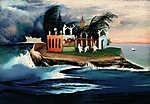 Csontváry Kosztka Tivadar: Titokzatos sziget (id: 19691) vászonkép