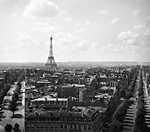Párizsi látkép a Diadalívről az Eiffel-torony irányába (1931) (id: 20291) vászonkép óra