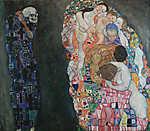 Gustav Klimt: Élet és halál (id: 3591) többrészes vászonkép