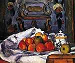 Paul Cézanne: Csendélet almástállal (id: 491) tapéta