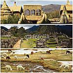 Peru kollázs a Machu Pichu és a Titicaca tó tájakkal (id: 5991)