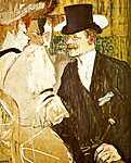 Henri de Toulouse Lautrec: Angol úr a Moulin Rouge-ban (id: 1092) vászonkép
