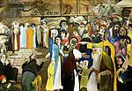 Csontváry Kosztka Tivadar: A Panaszfal bejáratánál Jeruzsálemben (1904) (id: 20292) falikép keretezve