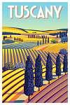 Utazás poszter - Toszkána  (id: 20992) többrészes vászonkép