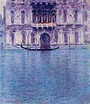 Claude Monet: Contarini Palota, Velence - Színverzió 1. (id: 3792) többrészes vászonkép