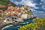 színpadi Olaszország. Monarolla falu, Cinque Terre (id: 4292) többrészes vászonkép