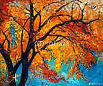 Őszi fa (id: 4392) többrészes vászonkép