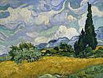Vincent Van Gogh: Búzamező ciprusokkal (id: 12793) vászonkép óra