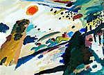 Vaszilij Kandinszkij: Romantikus tájkép, absztrakt festmény (id: 14293) vászonkép óra