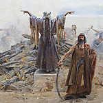 Feszty Árpád: A táltos imája az oltár előtt (Magyarok bejövetele, részlet - A táltos) (id: 18593) poszter