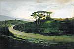Csontváry Kosztka Tivadar: Olasz táj (id: 19693) falikép keretezve