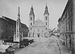 Március 15 (Eskü) tér, Belvárosi Nagyboldogasszony Főplébánia (1880-1890 között) - színverzió 1. (id: 20193) falikép keretezve