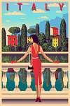 Utazás poszter - Olaszország  (id: 20993) falikép keretezve