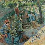 Camille Pissarro: Almaszedés (id: 2693) tapéta