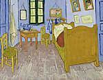 Vincent Van Gogh: Van Gogh hálószobája Arles-ban - verzió 3. (id: 10094) többrészes vászonkép