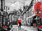 olajfestmény vászon európai városban. Magyarország. utcai kilátá (id: 11894)