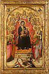 Giovanni di Paolo: Madonna és gyermeke (id: 12094)
