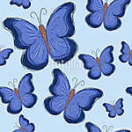 seamless pattern with bright big blue butterfly (id: 13794) falikép keretezve