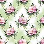 Watercolor floral seamless pattern with hand painted roses (id: 14194)